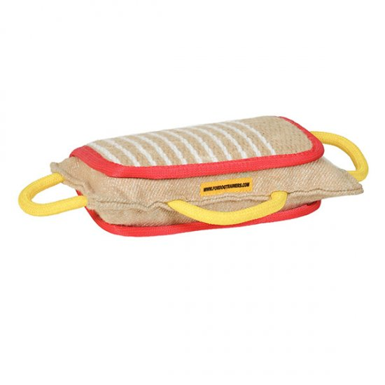 New Design Bite Jute Pad with 3 Handles