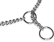 Chrome Plated Dog Show Chain Choke Collar 1/25 inch (1 mm)