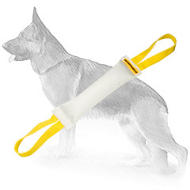 Fire Hose Dog Bite Tug With 2 Handles