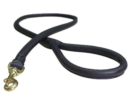 Round Leather German Shepherd Leash for Daily Walking