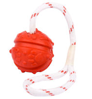 German Shepherd Ball On A Rope For Playing And Training 4 4/5 inch (12 cm) - TT9