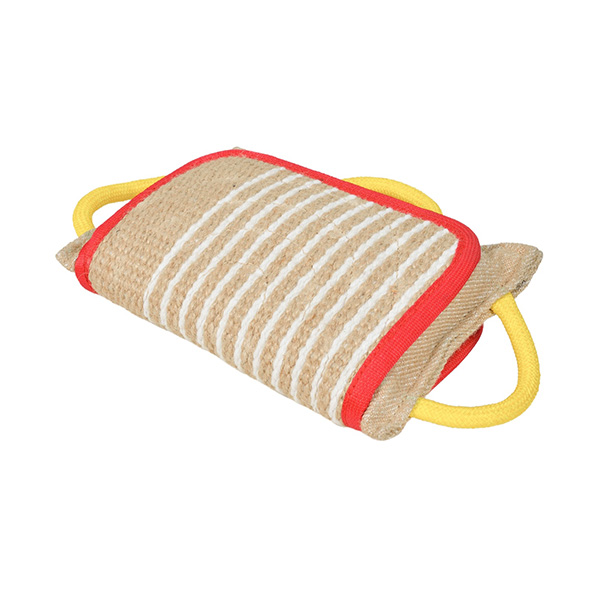 Strong Jute Bite Pillow with 3 Handles for German Shepherd