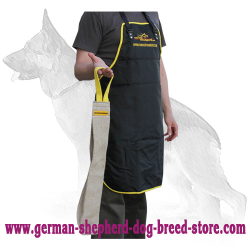Jute German Shepherd Bite Rag with Reliable Handle