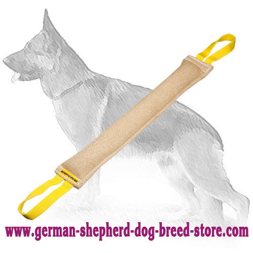 Jute German Shepherd Bite Tag with Two Handles