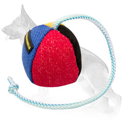 German Shepherd French Linen Ball Long String