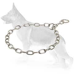 Chrome Plated Fur Saver Collar for Obedience Training