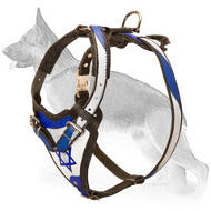 Exclusive Design Leather German Shepherd Harness Holy Land