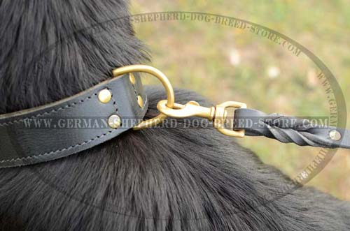 Brass D-Ring On Dog Collar Leather Corrosion Resistant