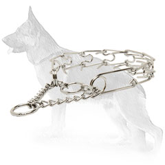 Chrome Plated Prong Collar for Dog Training