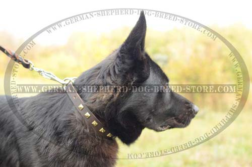 German Shepherd Collar Leather Handmade