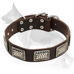 Stylish Design Leather German Shepherd Collar
