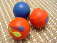 Crazy Color Rubber Ball - 2 3/8 inch (6 cm)