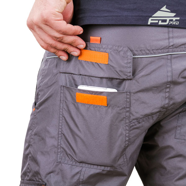 Convenient Design FDT Professional Pants with Reliable Side Pockets for Dog Trainers