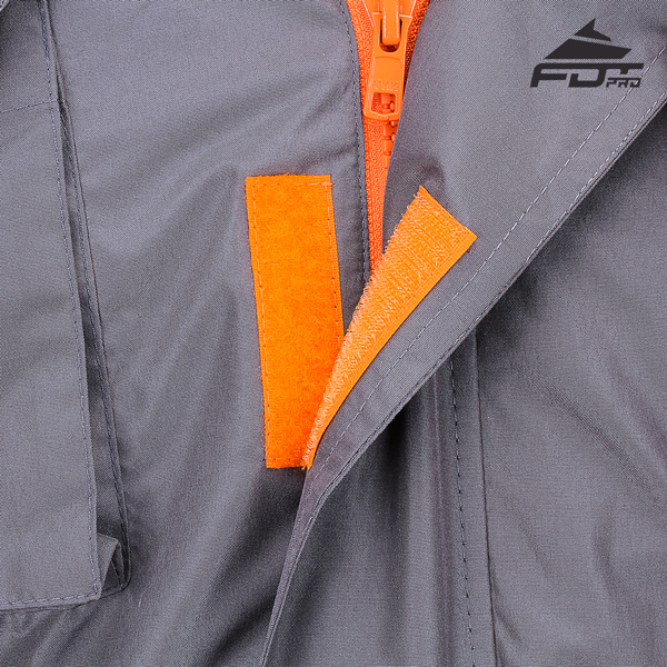 Reliable Velcro Fastening on Dog Tracking Jacket for Everyday Activities