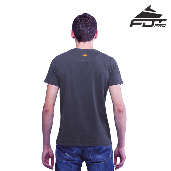 Men T-shirt of Dark Grey FDT Pro for Dog Trainers