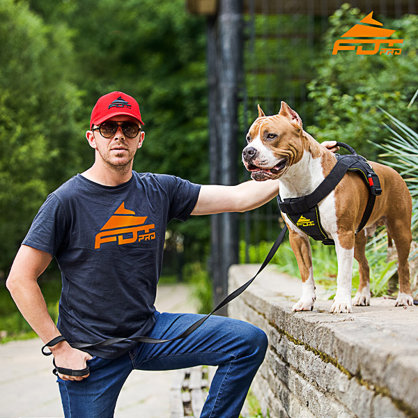 Men T-shirt of Reliable Cotton with FDT Professional Logo for Dog Trainers