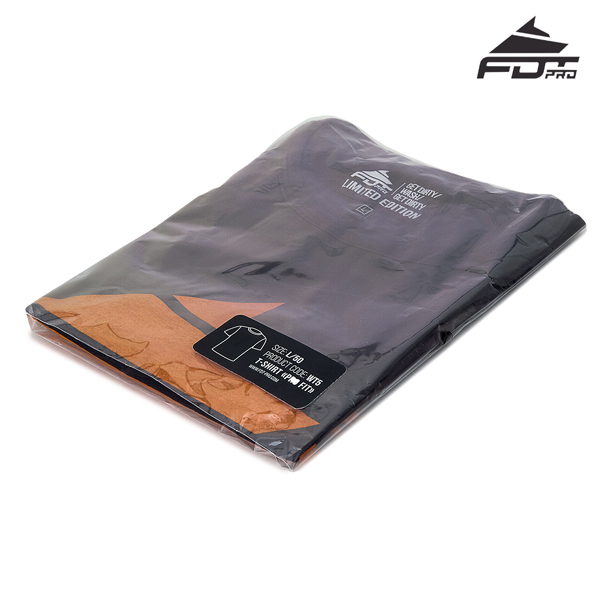 Prepacked Professional T-shirt of Dark Grey Color