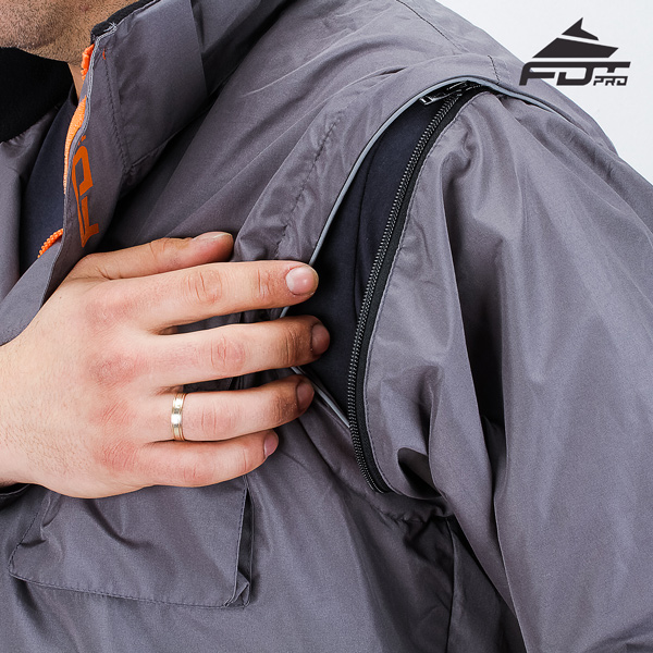 Strong Zipper on Sleeve for FDT Pro Design Dog Trainer Jacket