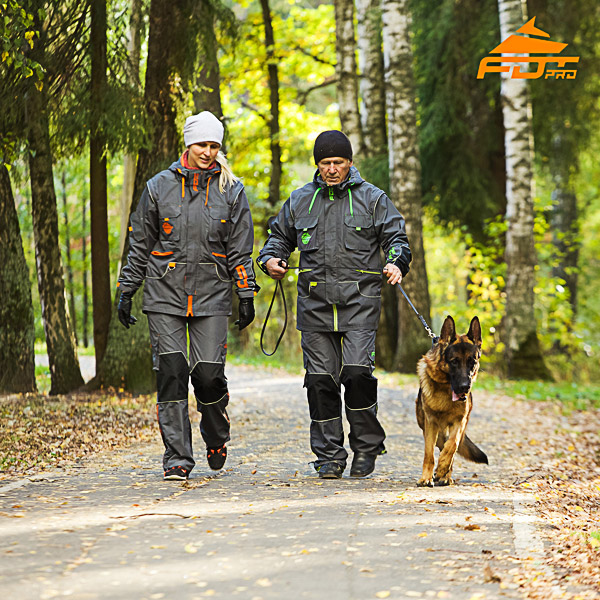 Unisex Reliable Dog Training Suit for Men and Women with Reflective Trim