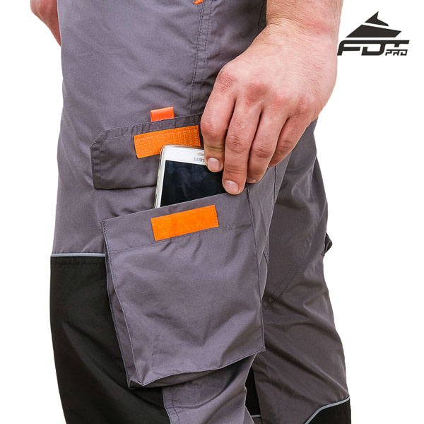 FDT Professional Design Dog Tracking Pants with Comfortable Velcro Side Pocket