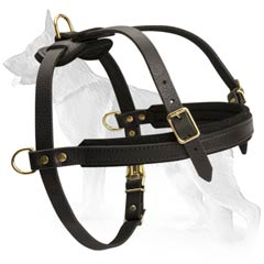 Superior German Shepherd Dog Leather Harness