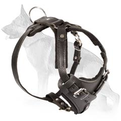 Awesome German Shepherd Leather Dog Harness