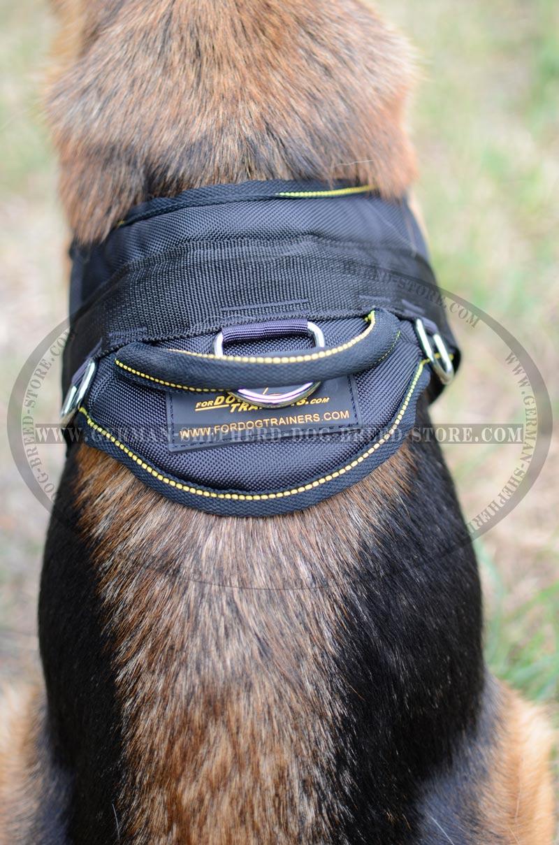 Nylon Handle On Dog Harness Durable big multifunctional any weather nylon dog harness [h6 1019 nylon