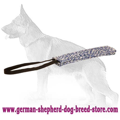 35% OFF - LIMITED OFFER. French Linen Puppy Training Bite Tug with Handle