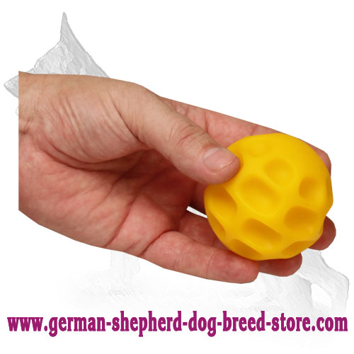Small Tetraflex German Shepherd Ball for Treat Dispensing - 3 inch