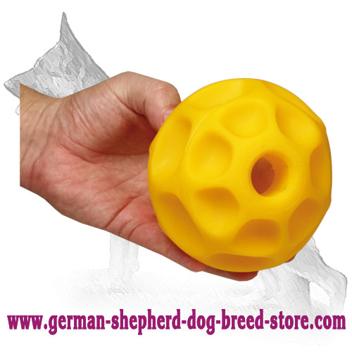 Large Treat Dispensing Tetraflex Ball (5 inch) for German Shepherd