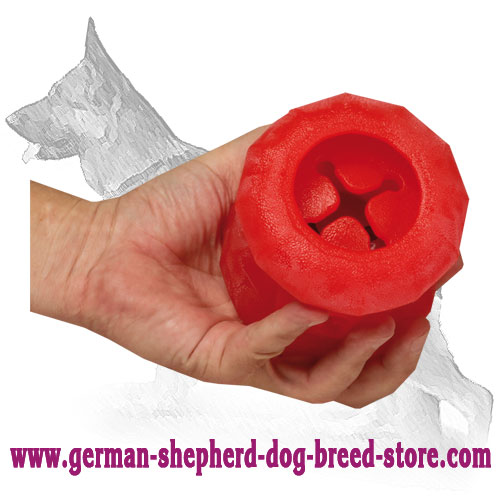 Rolling Feeder German Shepherd Chewing Ball - Large Size