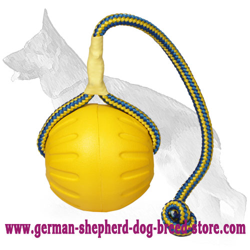 High Fly Interactive German Shepherd Ball 3 1/2 inch (9 cm) - Large Size