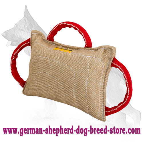 Jute German Shepherd Bite Pad with 3 Handles