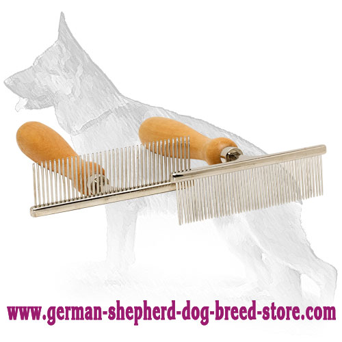 Hair Designer Chrome-Plated Metal Brush Dog Grooming