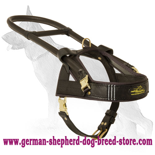 Leather German Shepherd Harness for Guide and Assistant Dogs