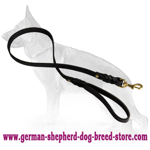 20 mm Handcrafted Leather German Shepherd Leash