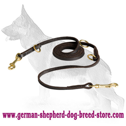 Multifunctional Leather German Shepherd Leash