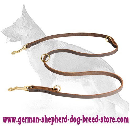 13 mm Leather German Shepherd Leash for Different Purposes