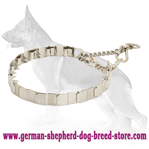 Stainless Steel Neck Tech Pinch Collar for German Shepherd - 24 inch (60 cm)