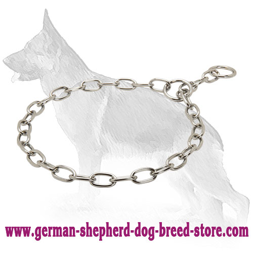 Daily Walking Chrome Plated Choke Collar - Fur Saver 1/10 inch (3,2 mm)
