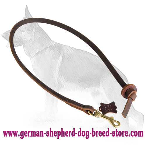 Pocket Leather German Shepherd Leash for Easy Dog Control