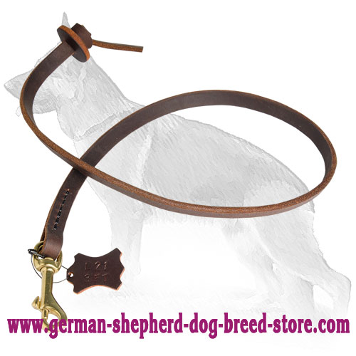 Professional Training Leather German Shepherd Leash