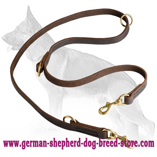 German Shepherd Leash with Regulated Length