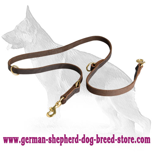 Leather German Shepherd Leash for Multifunctional Use