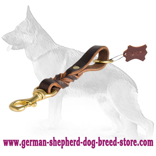 German Shepherd Leash With Braids