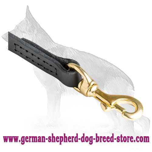 Strong Snap Hook on German Shepherd Leash