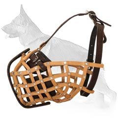 Gorgeous Military Style Basket German Shepherd Muzzle
