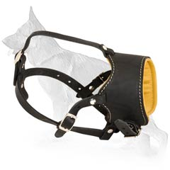 Comfortable Nappa Padded Muzzle For Your German  Shepherd