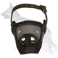German Shepherd Leather Nylon Muzzle With Perfect Air Flow