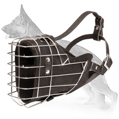 Fully Leather Padded Wire Basket German Shepherd Muzzle